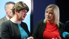 Arlene Foster and Michelle O'Neill disagree on the way forward over coronavirus