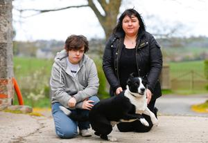 Ruth with her daughter Tabby and dog Tyco