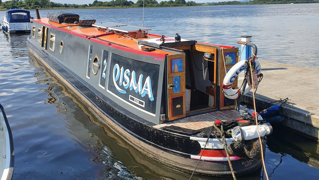 Our 6ft-wide home: Armagh couple's mortgage-free life on a Lough Erne barge