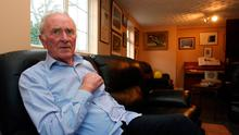 Harry Gregg at his home