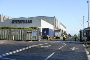 Stunned: The Larne Caterpillar plant will see 700 job losses