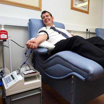 Health Secretary Jeremy Hunt and Stormont counterpart Edwin Poots, pictured, are appealing against a ruling criticising a ban on gay men giving blood in Northern Ireland