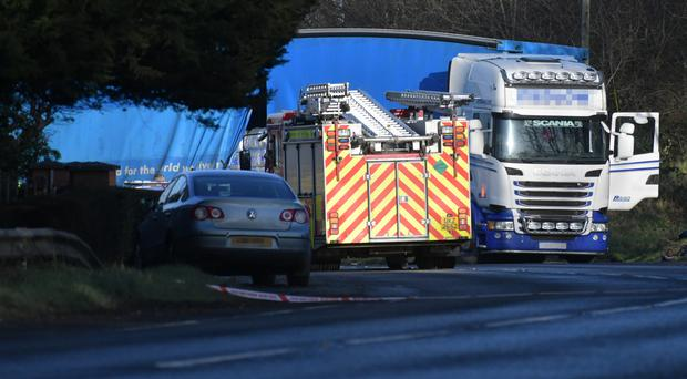 The scene of the fatal accident near Milford, Co Armagh