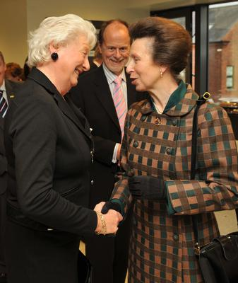 Mary Peters and Princess Anne in 2009
