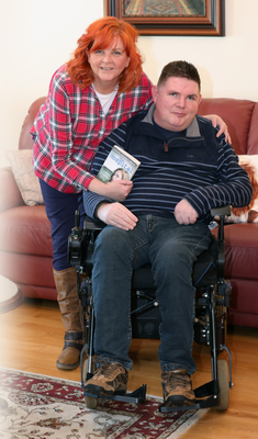 Yvonne McCoy with her disabled brother, Stephen