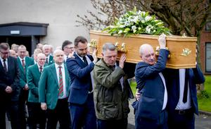 The funeral of Maxi Johnston takes place in south Belfast yesterday