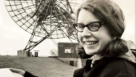 Dame Jocelyn as a student at Mullard Radio Astronomy Observatory in the 1960s