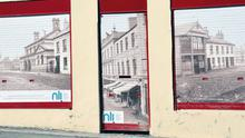 False shop fronts on the Lower Newtownards Road in east Belfast.