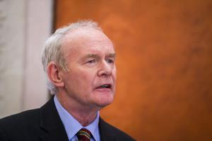 Martin McGuiness's resignation as deputy first minister in January 2017 caused the collapse of powersharing at Stormont (Liam McBurney/PA)