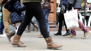 Researchers warned footfall levels were volatile