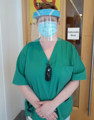 Struggle: Sister Mairead Boyd at the Covid ward in the South West Acute Hospital