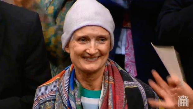 Dame Tessa Jowell received a standing ovation after speaking about her fight with cancer in the House of Lords