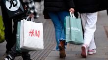 Great deals: shoppers with their bags