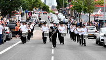 Loyalist band on the Shankill Road