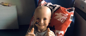 Reece during treatment
