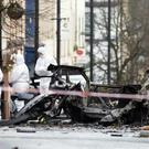 The scene outside Derry Courthouse following Saturday's blast