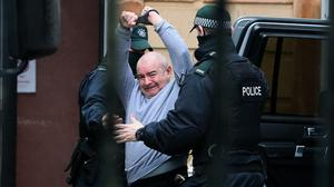 Paul McIntyre at Londonderry Magistrates' Court (Brian Lawless/PA)