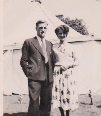 Young Bob and Alma McAllister from Belfast who worked as missionaries in the Congo