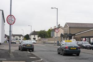 Signs erected on Central Drive in the Creggan estate in Londonderry