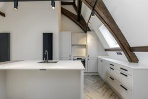 Prices for the apartments start at £189,950 and offer luxury bathrooms, spacious and bright kitchens and living areas with exposed curved beams
