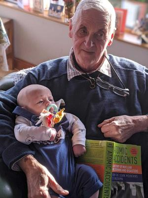 Jack Schofield with his grandchild pre-surgery