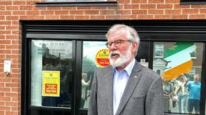 Gerry Adams has published a poetry book in memory of those who have died from coronavirus (David Young/PA)