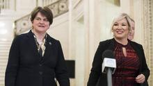 Northern Ireland First Minister Arlene Foster and Deputy First Minister Michelle O'Neill (/PA)