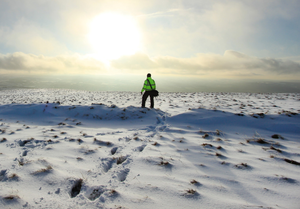 Remarkable winter scenes on Benbradagh Mountain