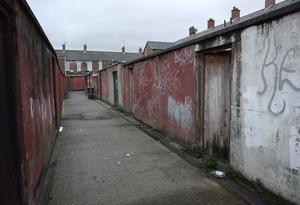 The weapons were found in a residential boiler house that caught fire in west Belfast (PSNI/PA)