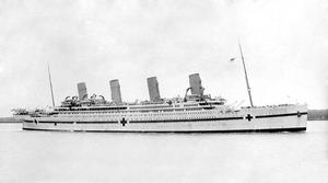 The Britannic during its use as a hospital ship in 1915