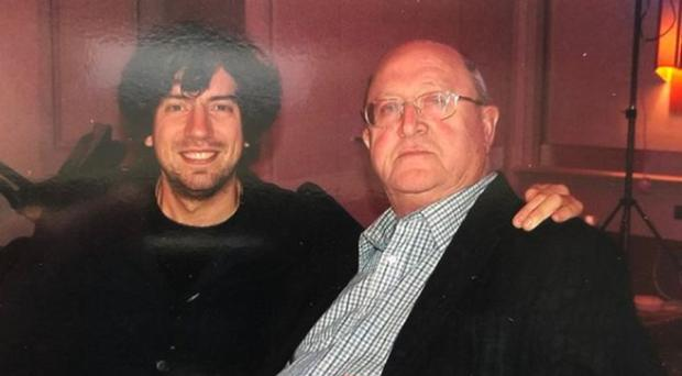 Gary Lightbody with his father Jack, who had been living with dementia for a number of years
