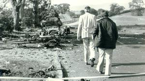 The aftermath of the Miami Showband massacre