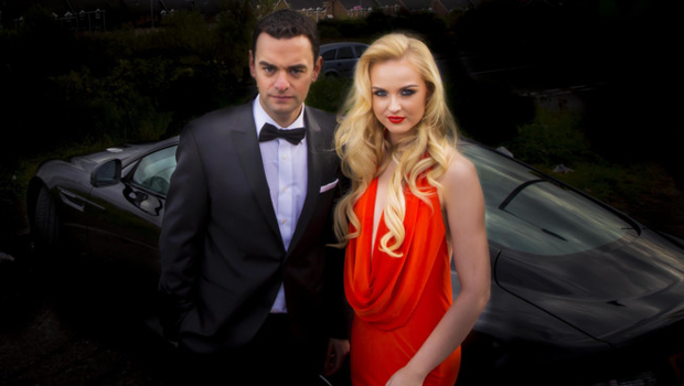 Miss NI Leanne McDowell as a Bond girl with Jonathan Bell as 007