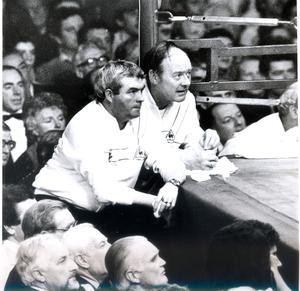 Eastwood ringside with legendary trainer Eddie Shaw