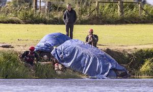 The car is recovered from River Bann at weekend