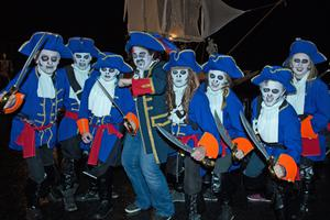 Pirates from the Marvel Arts Theatre Company who took part in Derry City Council's annual Banks of the Foyle Halloween