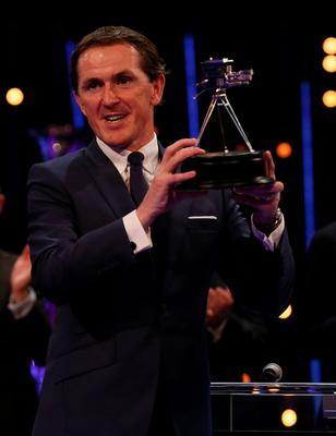 Tony McCoy with his Lifetime Achievement Award