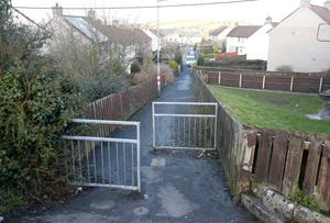 The scene following the incident in Saintfield