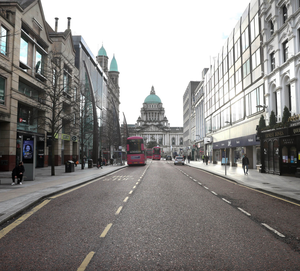 Empty feeling: Belfast city centre on the first day of the new lockdown last week