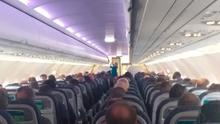 Pictures taken on Aer Lingus' Belfast-London flight on Monday morning and posted on Twitter by the BBC's Kelly Bonner