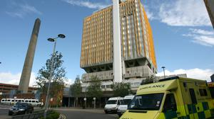 The tower block at Belfast City Hospital will be set aside for 230 coronavirus patients, Stormont's Department of Health said (Paul Faith/PA).