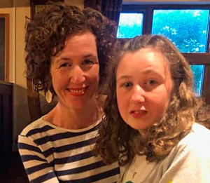Fingerprints found: Nora Quoirin with her mum Meabh