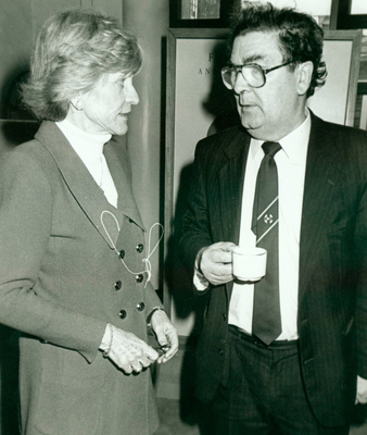 Ms Smith with John Hume