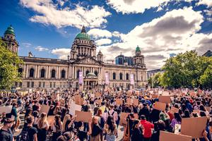 The Black Lives Matter protest held at Belfast City Hall in June last year
