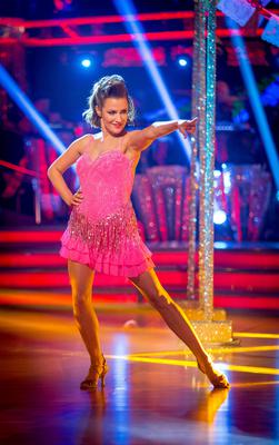 Caroline Flack looks in the pink to win BBC dance competition