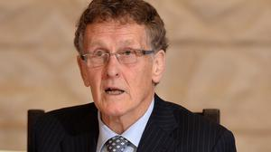 Sir Patrick Coghlin denied the decision to publish his RHI inquiry report on a Friday afternoon was a bid to bury bad news (Colm Lenaghan/RHI/PA)