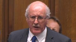 The DUP's Jim Shannon speaks during Prime Minister's Questions in the House of Commons