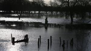 Flooded fields near Dungannon, an area affected by high water levels in Lough Neagh