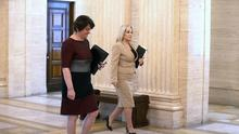 First Minister Arlene Foster and Deputy First Minister Michelle O'Neill arrive at Stormont (PA)