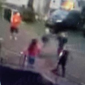 Images taken from a video which was circulated on social media purporting to show the brawl in which Mr McDonagh died